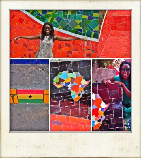 a tribte to the world... i spotted the Ghanaian flag and mosaic Africa!!