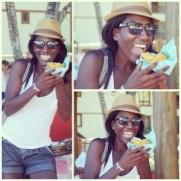 eating abara in Bahia