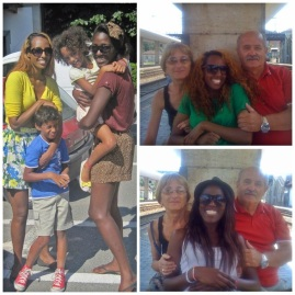 Myself and Rosa with our 'niece and nephew', and with Elvio and Esta.