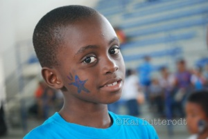 The children got their face painted!
