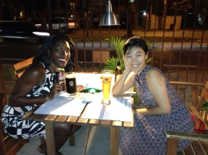 a lovely evening in Santo Domingo having dinner with Ms Hyangg