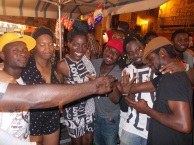 With my Ghanaian brothas who I met in Palermo