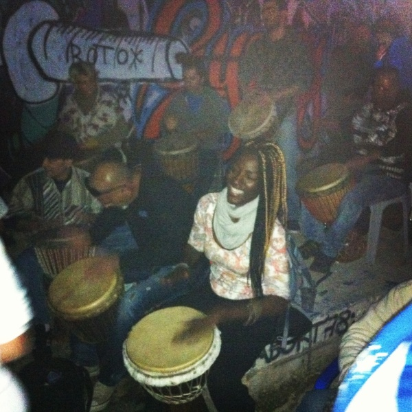 Enjoying the music of the drums from my continent of origin - Africa!
