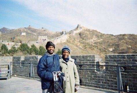 With my dad: We climbed the Great Wall of China