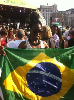 I aid my own tribute to my Brazilian ancestry