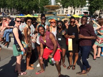 Our diverse group of locals, travellers, friends and couchsurfers - London!