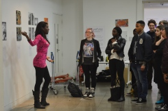 """Engaging students in a presentation about my """"Journey through Afro-Brazilian culture""""..."""