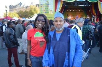 with anthropologist Danjuma Bihari wearing a 3 piece Babban Riga from Northern Nigeria