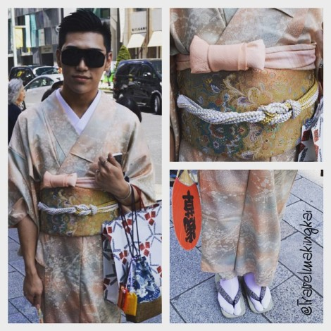The thing to wear: Kimonos out and about