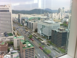 Our starting point: views from Park Hyatt, Seoul