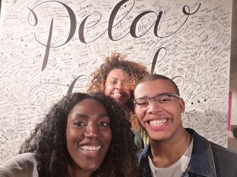 Selfie: Kai, Kamila and Murilo