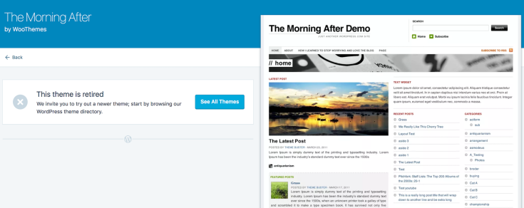 Morning After Theme retired